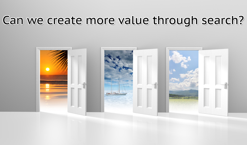 Creating value through search