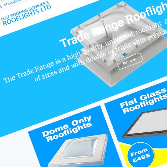 Flat Roofing Supplies & Rooflights - Website Design