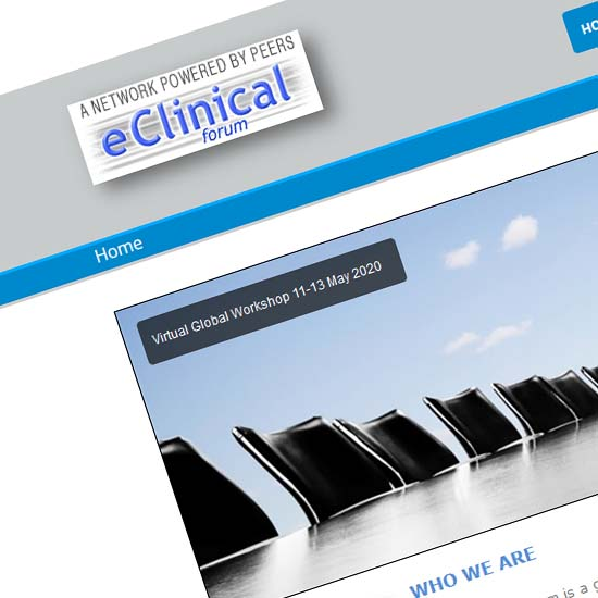 eClinical Forum - Website Development