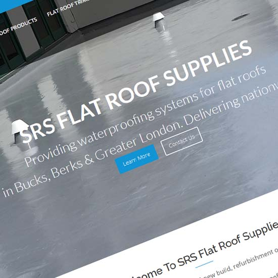 SRS Flat Roof Supplies - Website Design