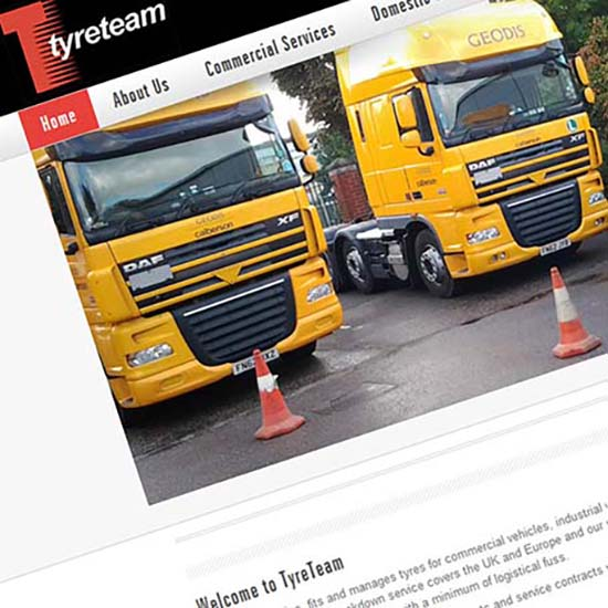 Tyre Team - Website Design